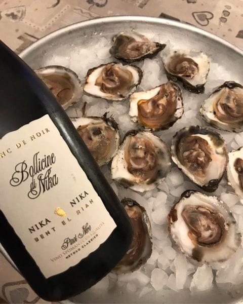 Abbinamento vino e ostriche